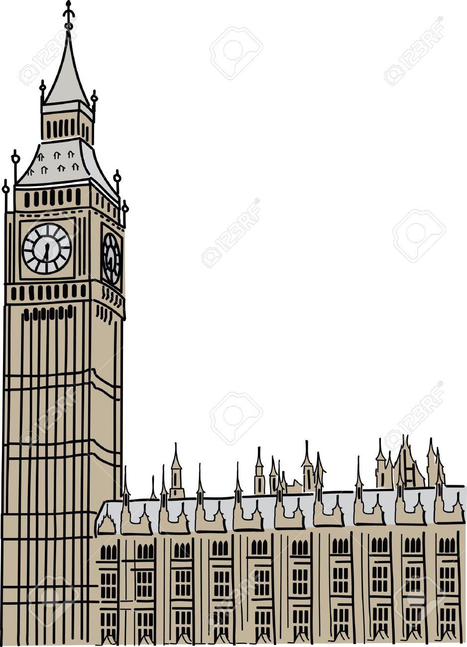 938x1300 Big Ben Clip Art