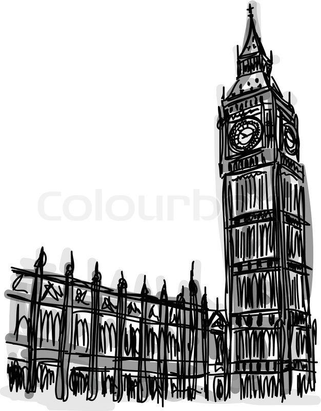 626x800 Vector World Famous Landmark Collection Big Ben London, England