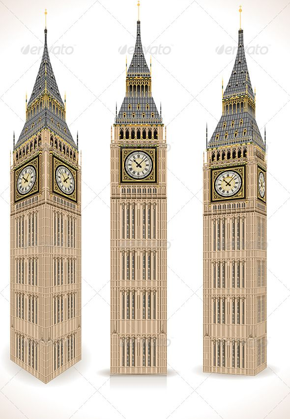 590x851 Big Ben Tower Isolated On White Diy Big Ben And Tower