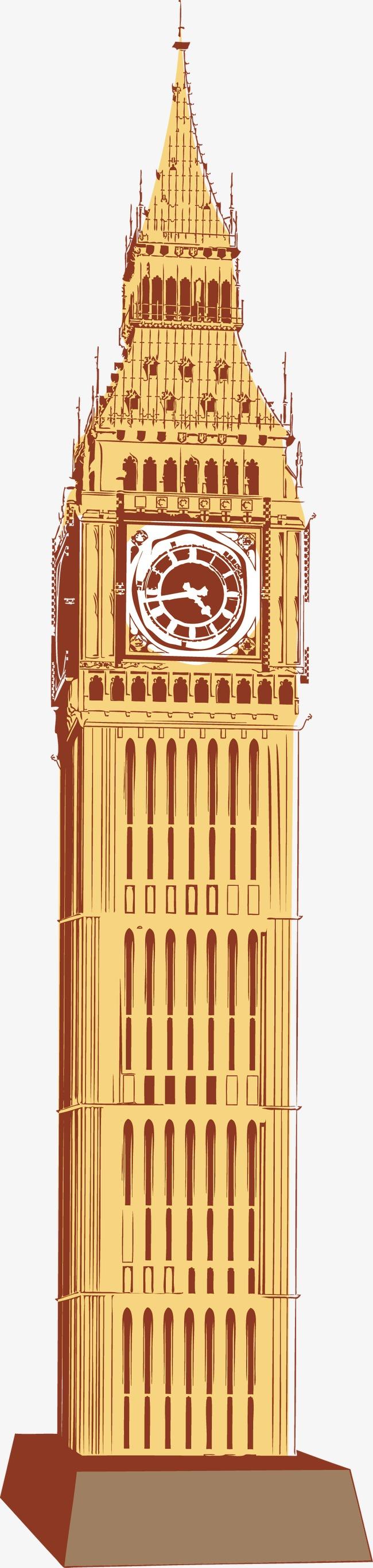 650x2735 Big Ben Vector, Building, Landmark, United Kingdom Png And Vector