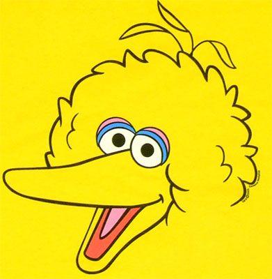 391x400 Big Bird Face Clip Art