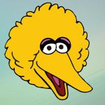 150x150 50 Image Big Bird Face Template