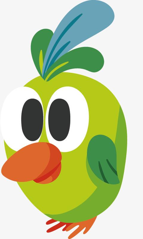 480x800 A Large Green Bird, Big Bird, Animal, Cartoon Png And Vector For