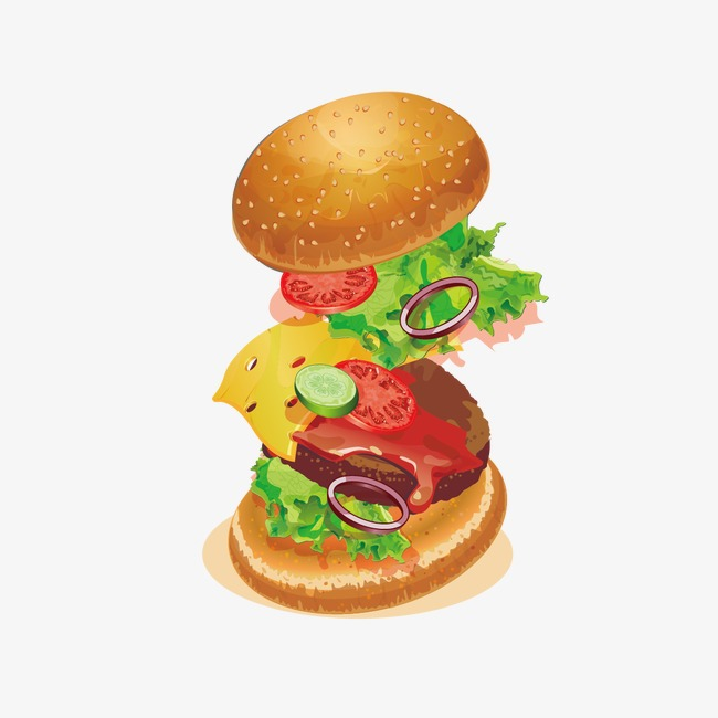 650x650 Creative Big Mac Hamburger, Hamburger, Bread, Western Png And