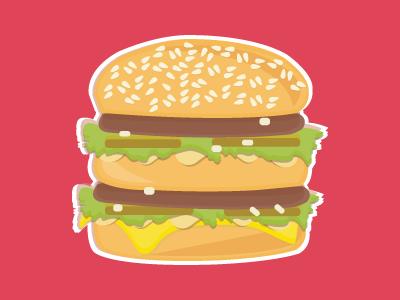400x300 Big Mac Magnet By Sarah Bono