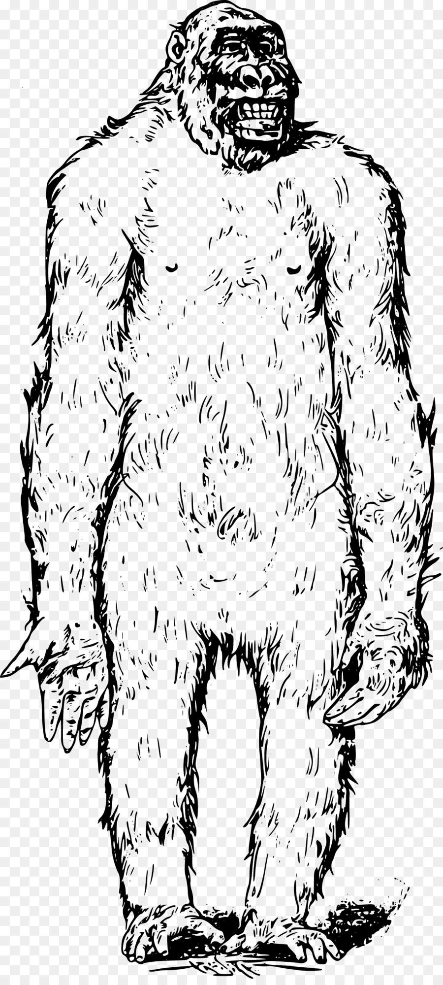 900x2000 Bigfoot Ape Clip Art