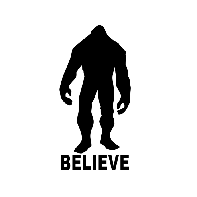 690x690 Bigfoot Believe Sasquatch Yeti Graphics By Vectordesign On Zibbet