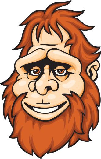 331x517 Bigfoot Face Clipart