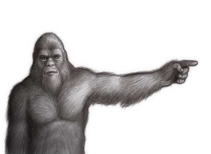 684x500 19 Sasquatch Vector Bigfoot Huge Freebie! Download For Powerpoint
