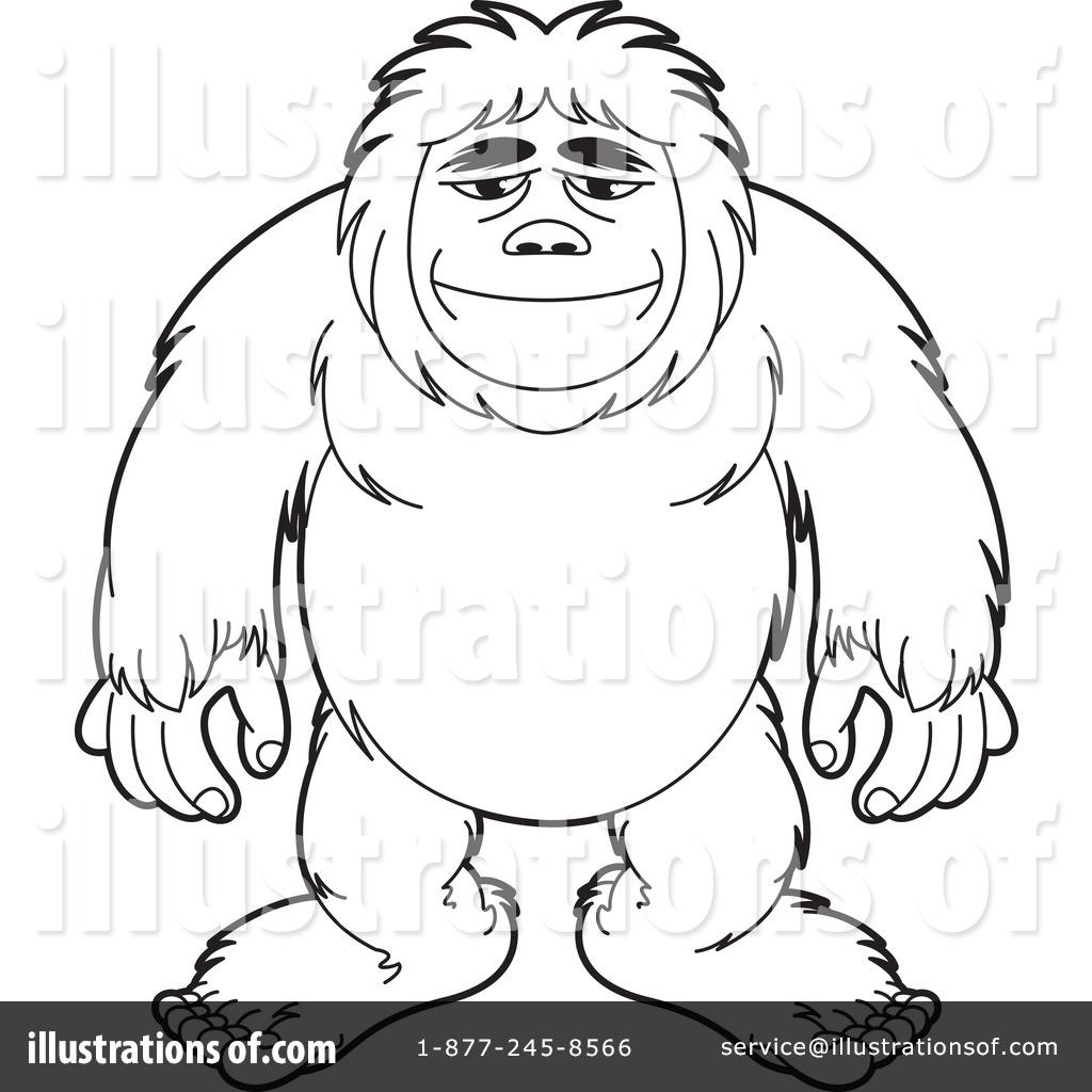 1024x1024 Bigfoot Clipart Vector ~ Frames ~ Illustrations ~ Hd Images