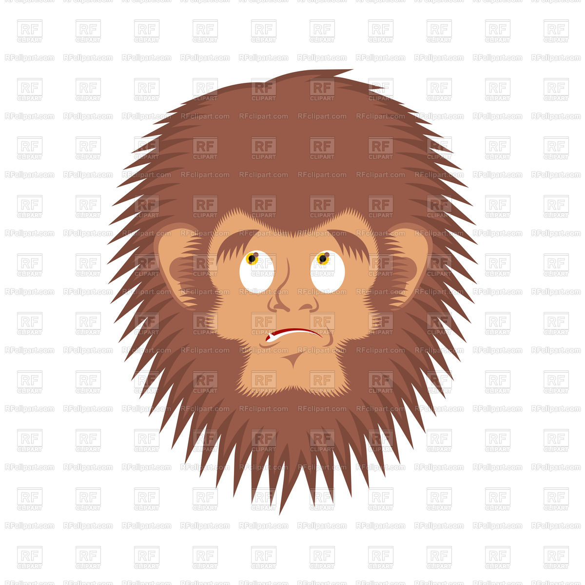 1200x1200 Bigfoot Guilty Emoji. Yeti Delinquent Face. Vector Image Vector