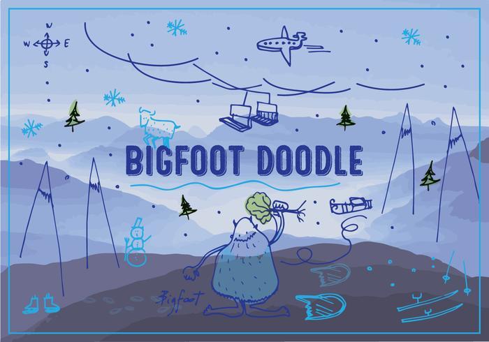 700x490 Bigfootyeti Vector Background