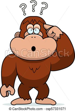 318x470 Cartoon Stupid Bigfoot. A Cartoon Illustration Of A Stupid Bigfoot.