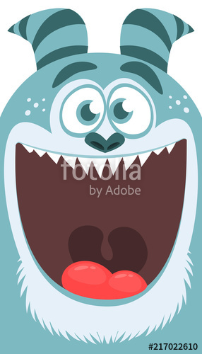 286x500 Cartoon Yeti Monster. Vector Illustration Of Bigfoot Sasquatch