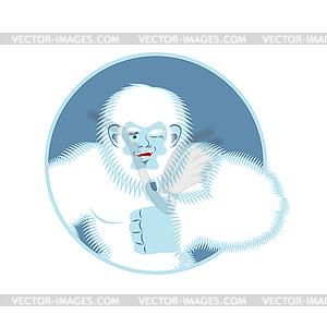 300x300 Yeti Thumbs Up. Bigfoot Winks Emoji. Abominable