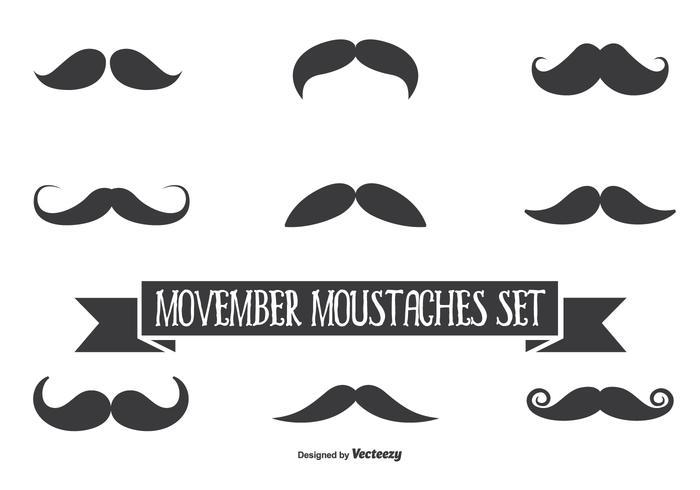 700x490 Movember Vector Conjunto De Bigote