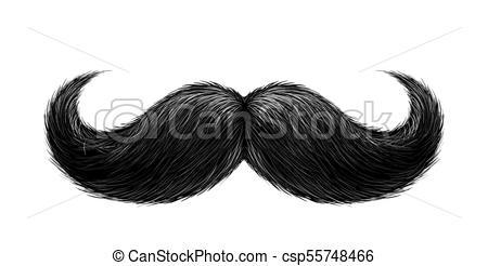450x246 Realista, Vector, Negro, Bigote. Mustache., Peinado,