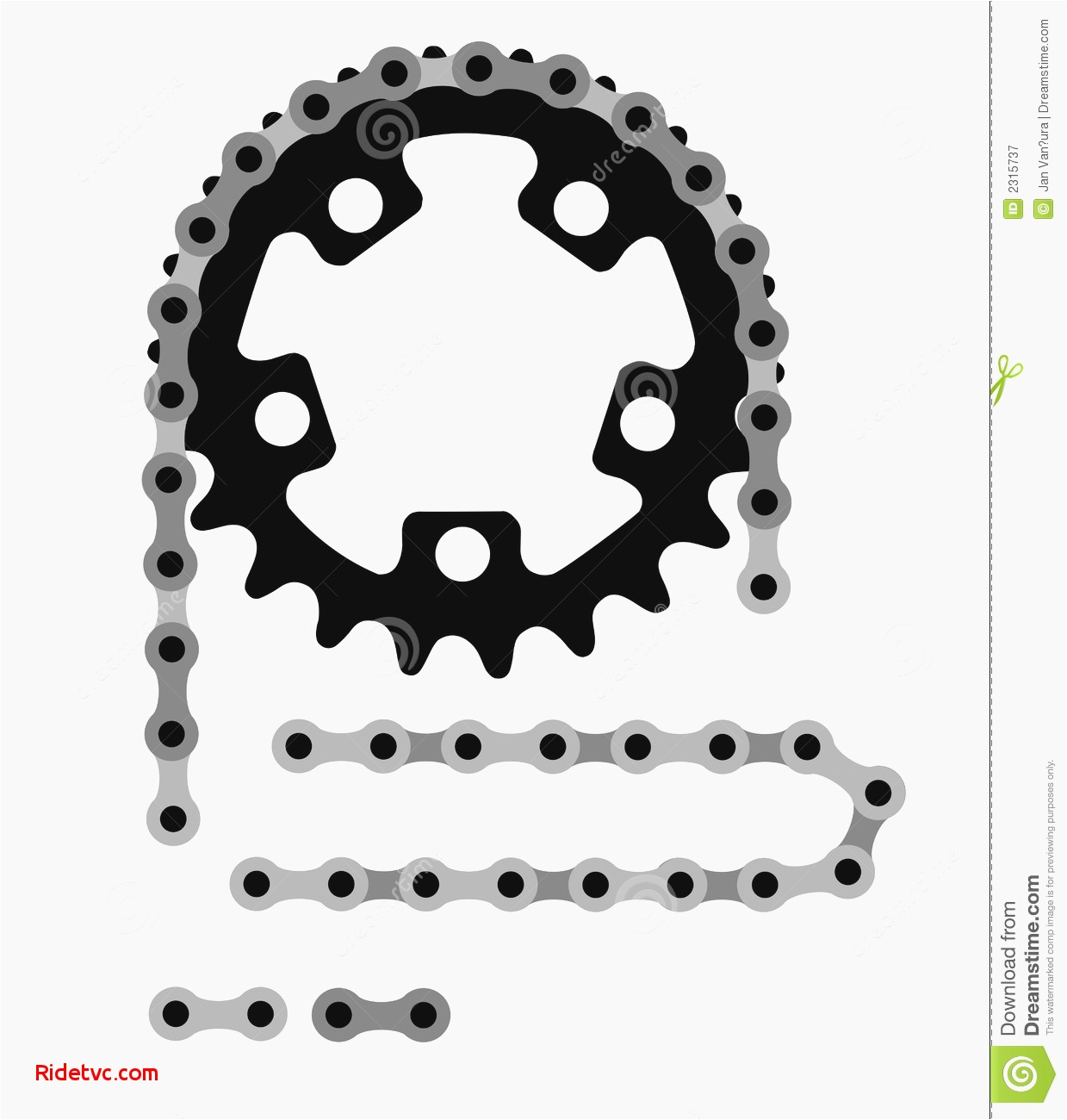 1239x1300 Bike Chain Vector Eps Unique Bicycle Chain Stock Vector