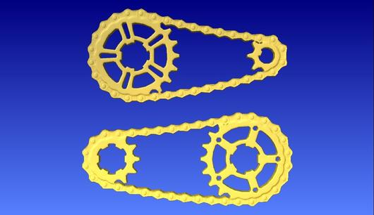 530x306 Bike Chain And Sprockets 3d Vector Model Cncvectorart