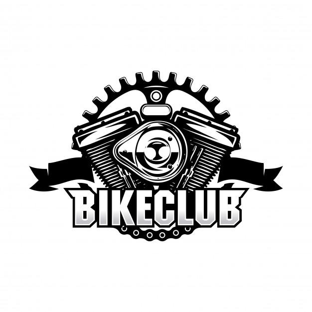 626x626 Bike Club Vintage Chain Motorcycle Vector Premium Download