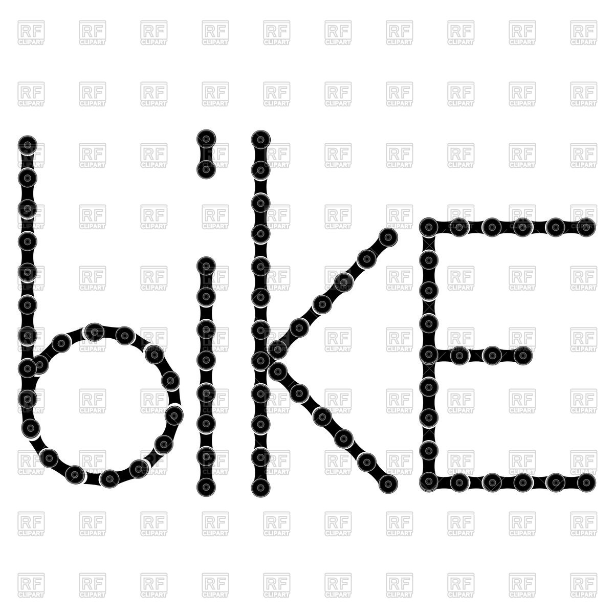 1200x1200 Chain Text Bike Vector Image Vector Artwork Of Design Elements