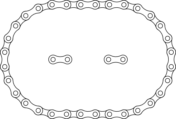 600x404 Collection Of Free Chains Vector Bike Chain. Download On Ubisafe