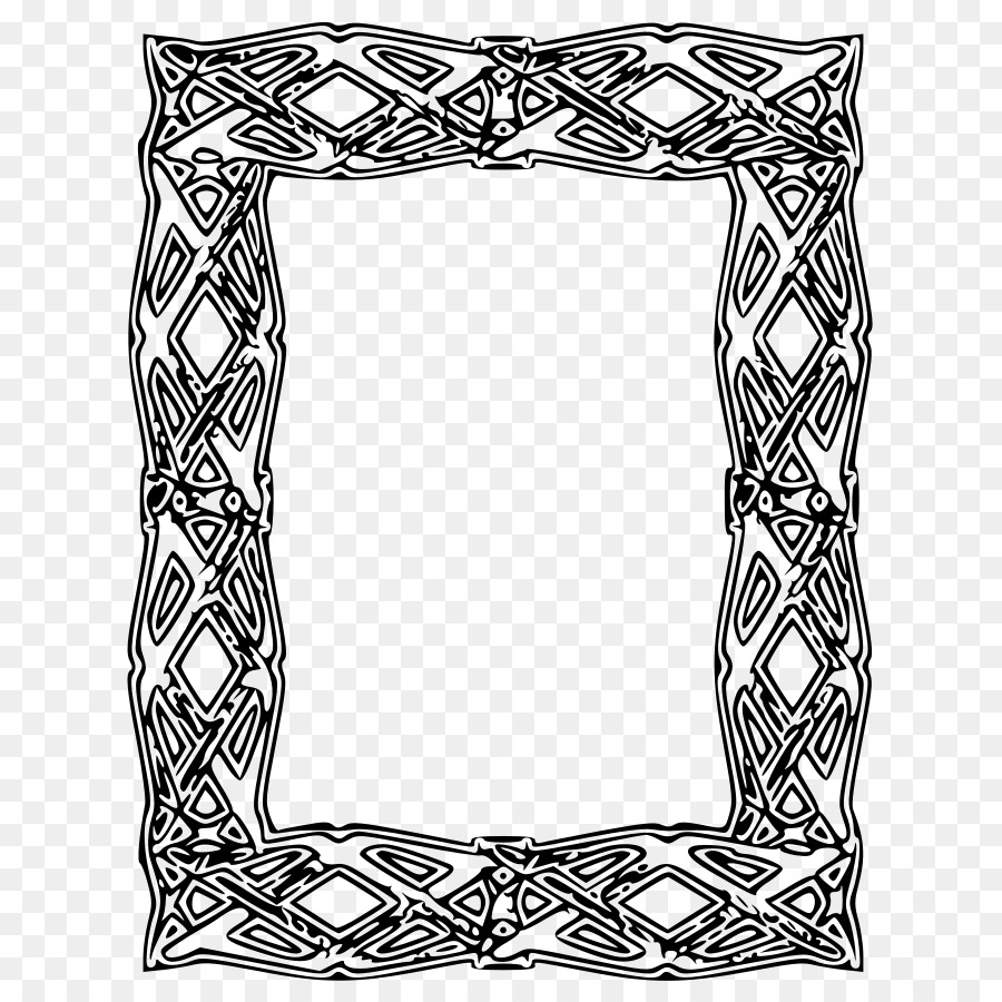 900x900 Picture Frame Outline Clip Art