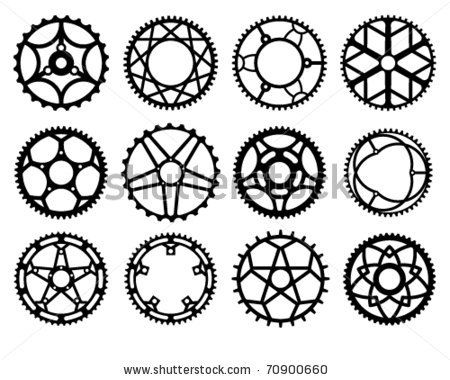 450x380 Vector Illustration Of Bicycle Chain Wheels By Kalmatsuy Tatyana