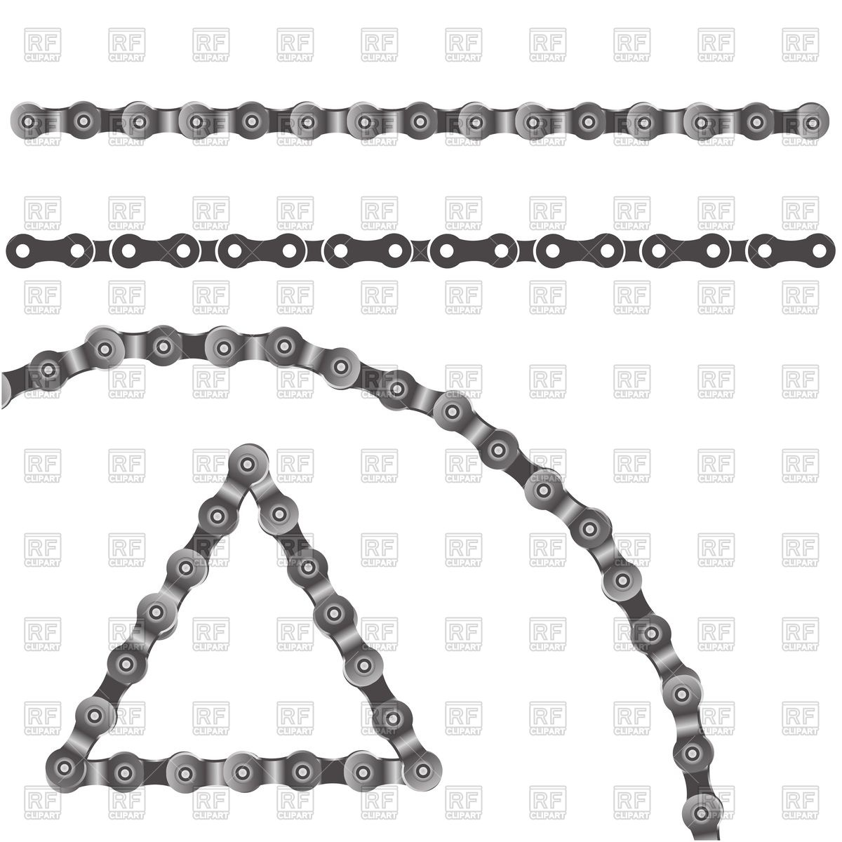 1200x1200 Colorful Illustration With Bicycle Chain On A White Background For