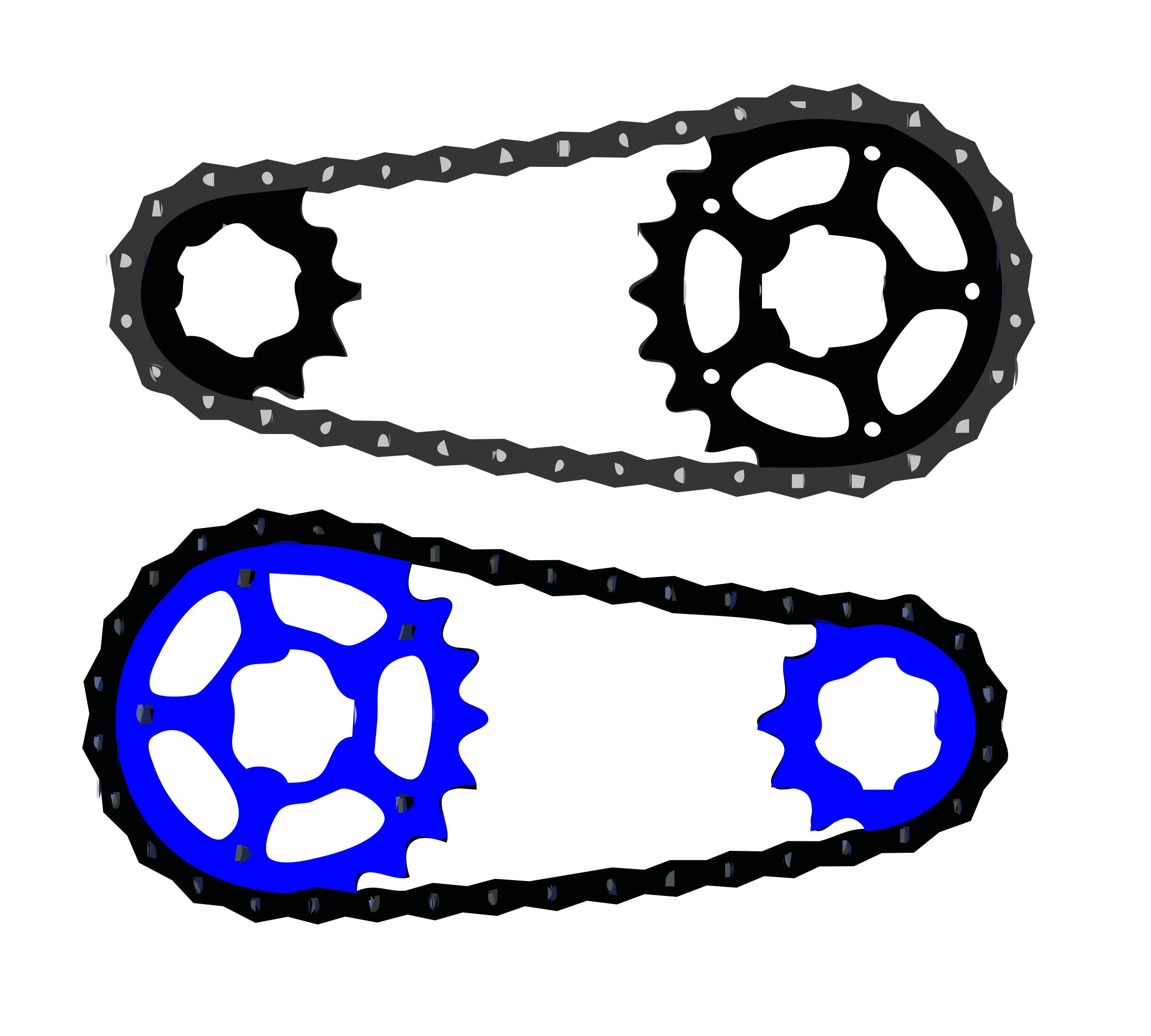 2400x2160 Bicycle Chain Vector Icons Png