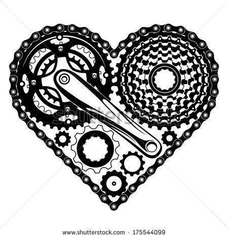 450x470 Crank Stock Vectors Amp Vector Clip Art Shutterstock Bike Art