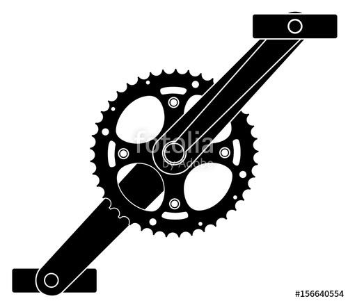 500x433 Bicycle Cogwheel Sprocket Crankset Symbol Vector Eps 10 Stock