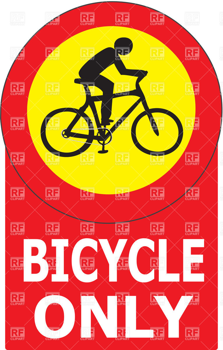 766x1200 Bike Lane Road Sign Vector Image Vector Artwork Of Signs