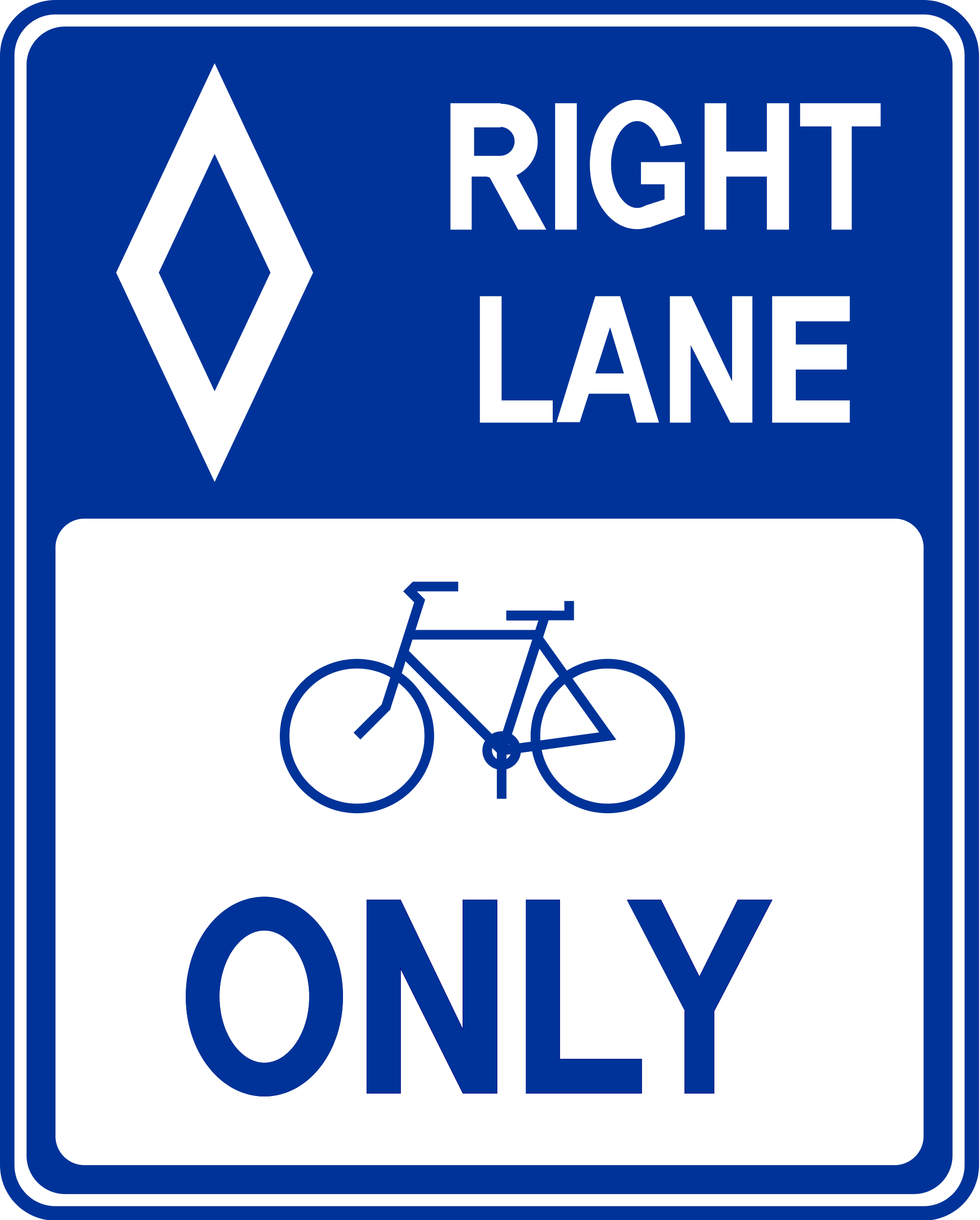 2000x2489 Filebicycle Lane Sign.svg