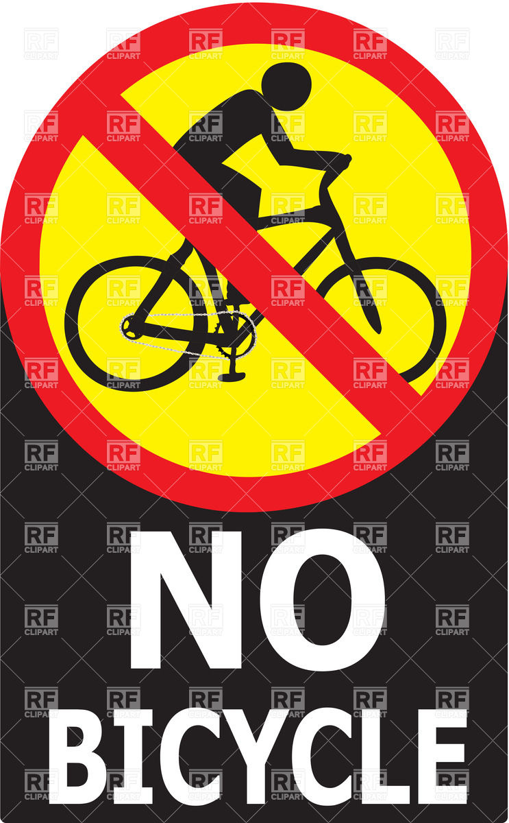 743x1200 No Bicycle Sign