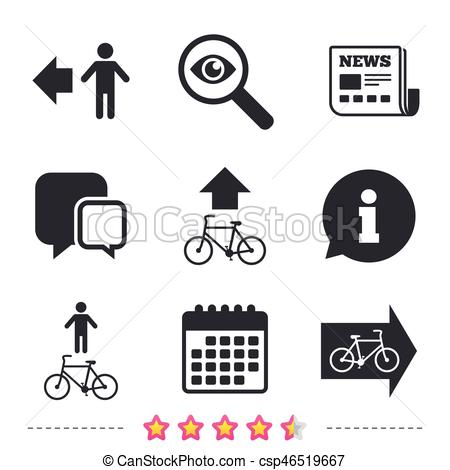 450x470 Pedestrian Road Icon. Bicycle Path Trail Sign. Cycle Path. Arrow