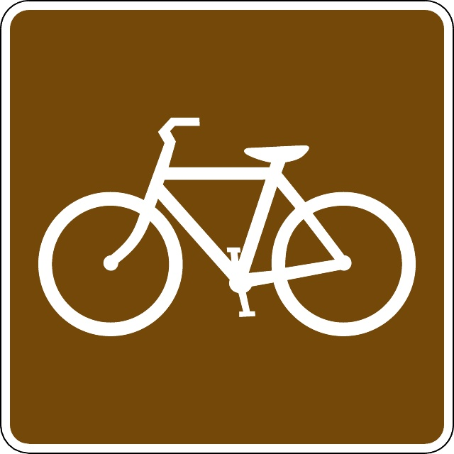 640x640 Bicycle Trail Vector Sign