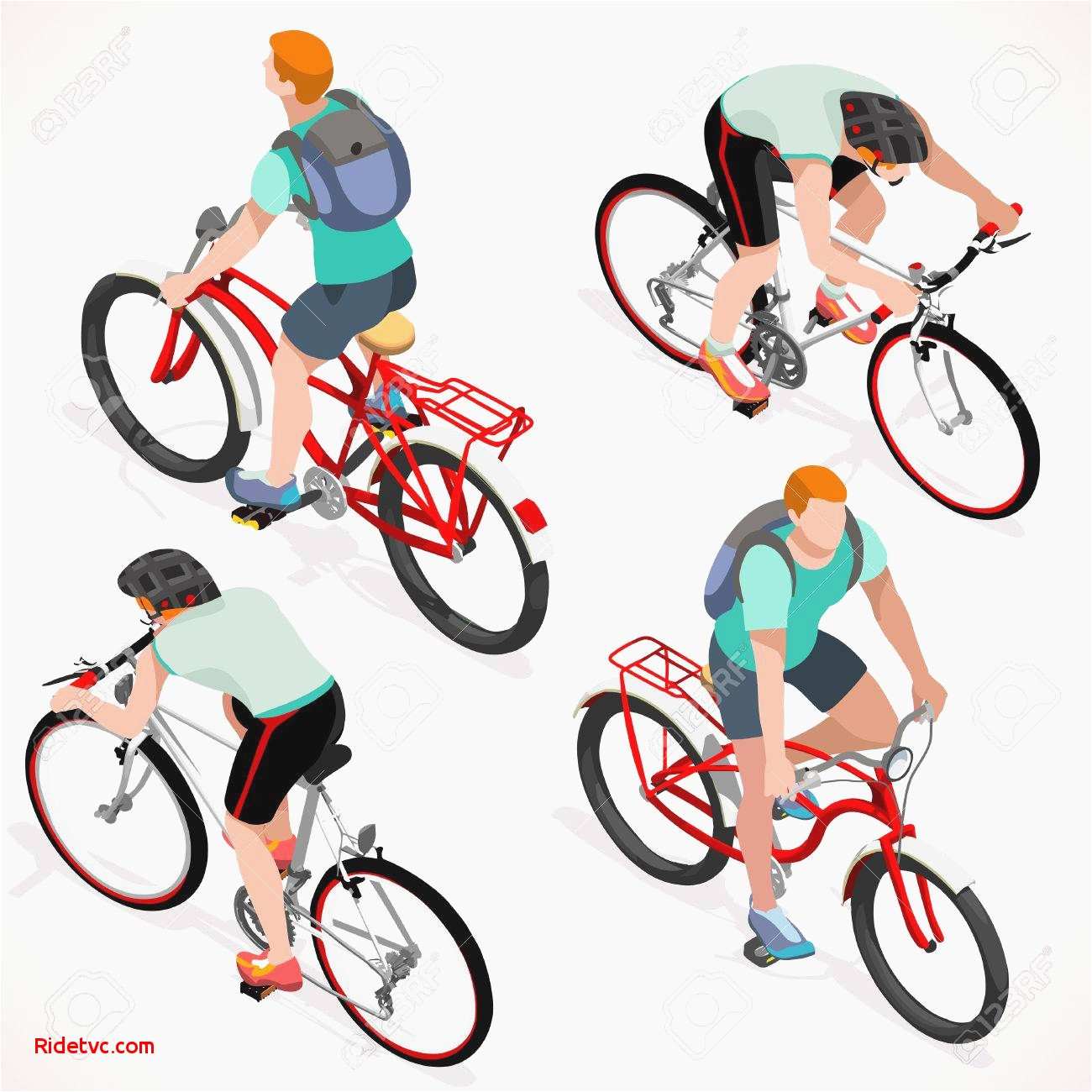 1300x1300 Bike Lane Vector Free Awesome Teen Cyclist Riding Bicycle