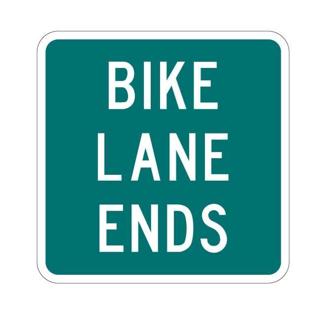 660x660 Bike Lane Ends