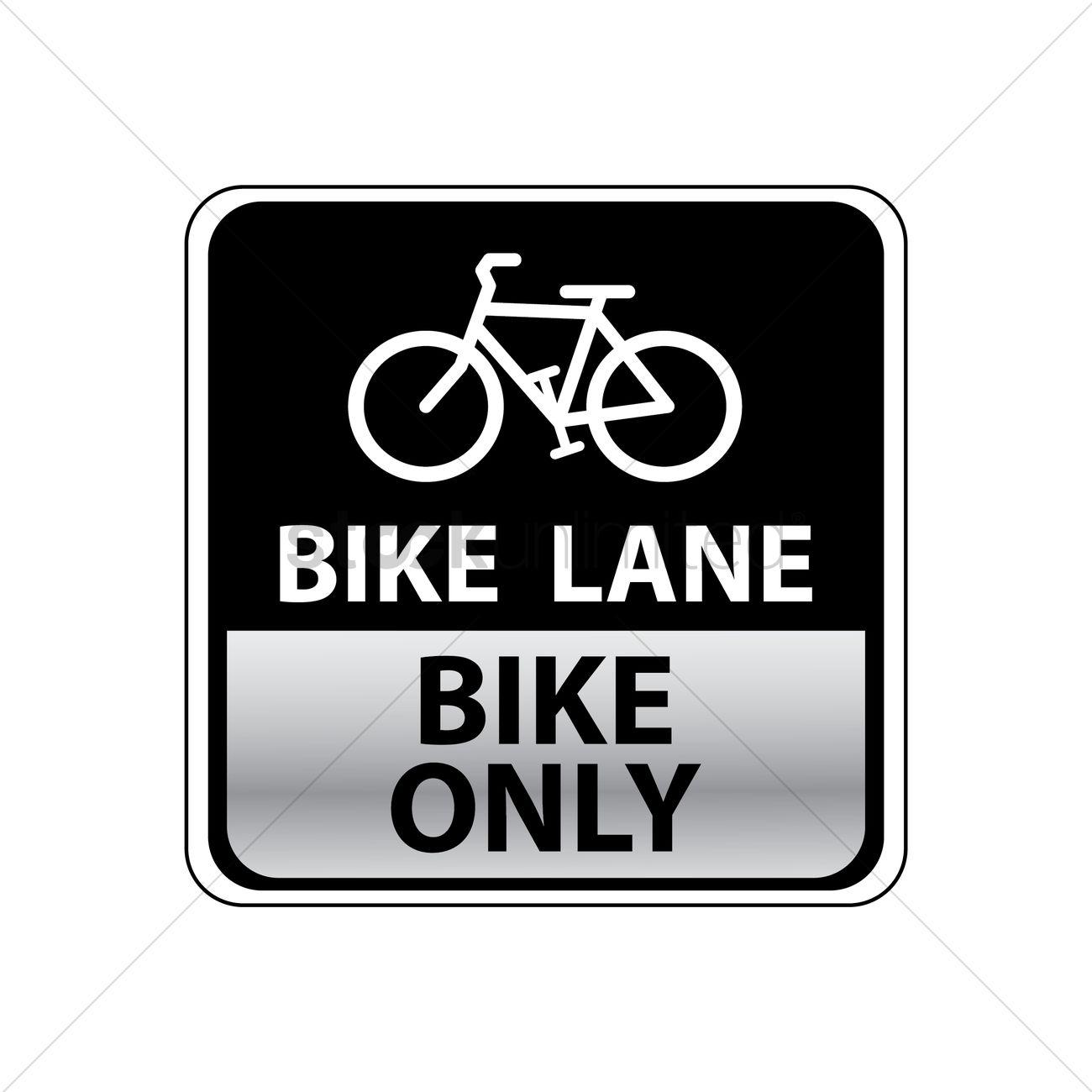 1300x1300 Bike Lane Road Sign Vector Image