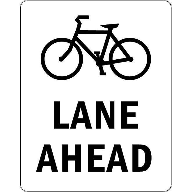 660x660 Lane Ahead Vector Sign