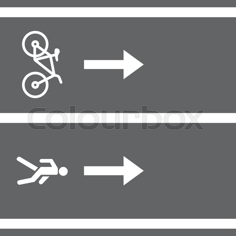800x800 Vectro Bicycle And Pedestrian Paths. Walking Path And Bike Path