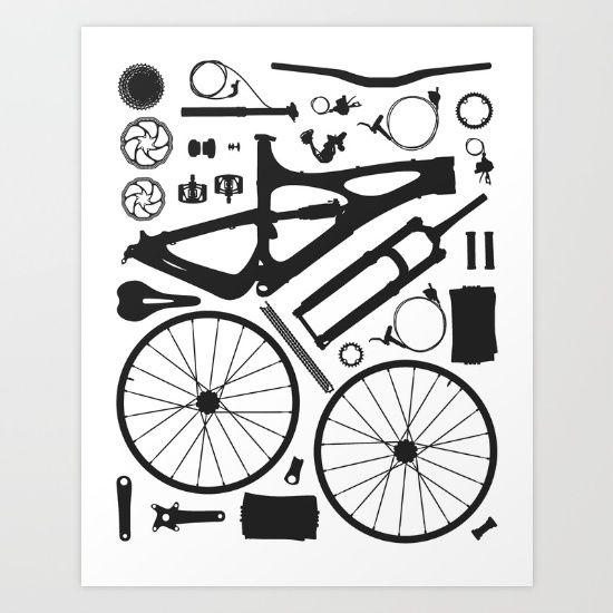 550x550 Bike Parts Vector Illustration, Bike, Ibis Cycles Bikes, Mojo Hd