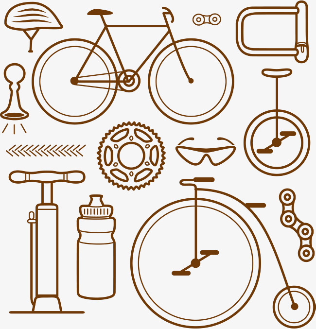 650x677 Design Of Bicycle Parts Vector Material, Bicycle Vector, Bike Hand