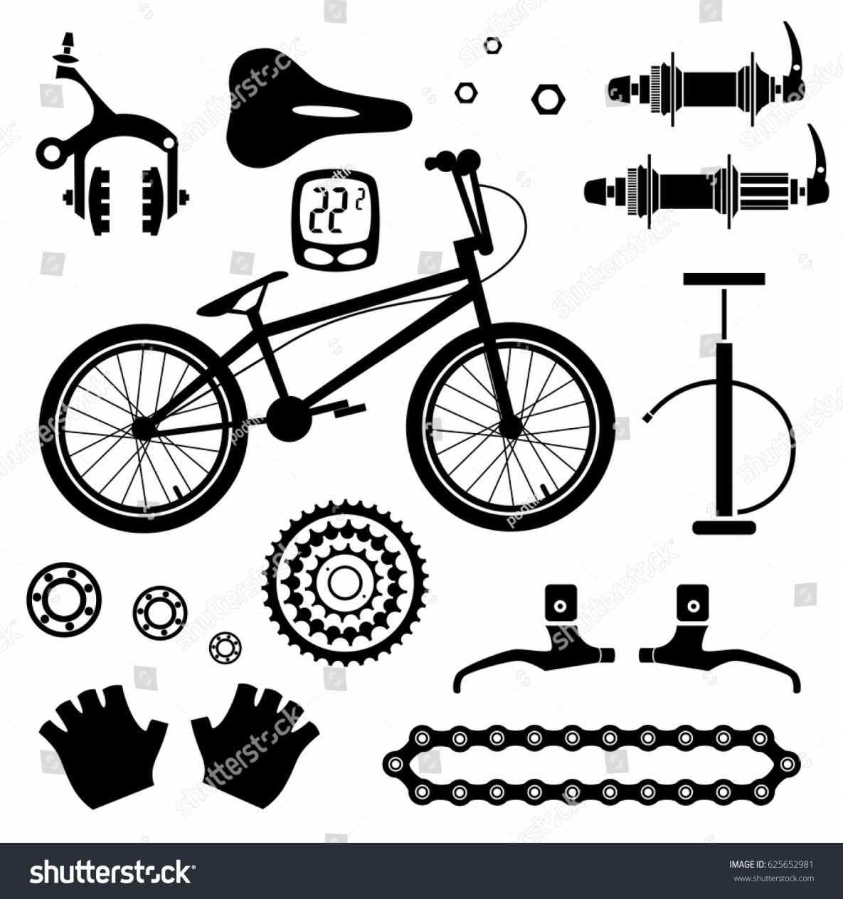 Bike Parts Vector At Free For Personal Use Bicycle Pictures Bicycles Picture 1185x1264 Tools And Equipment Part Andu