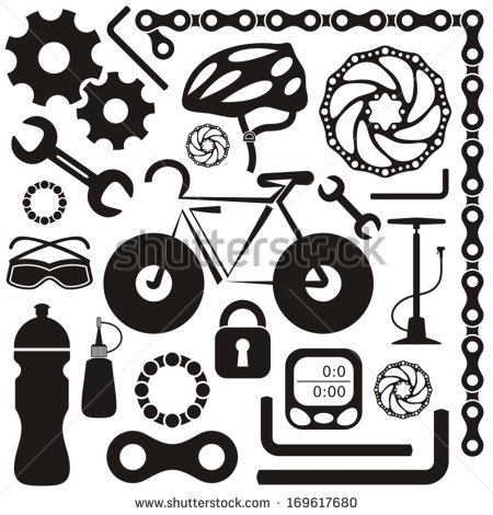 Bike Parts Vector At Getdrawings Com Free For Personal Use Bike