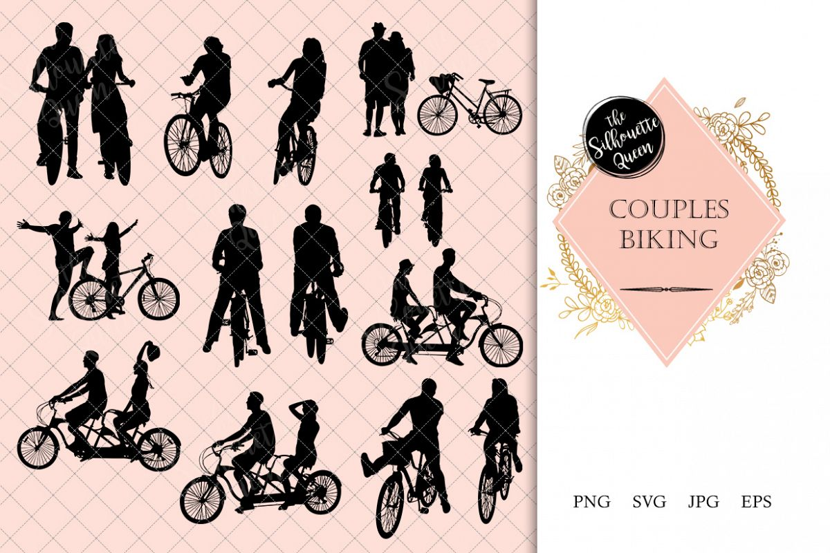 1200x800 Couples Biking Silhouette Bike Riding Vector Fit And Exc