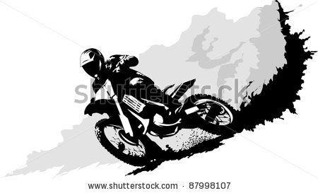 450x273 Dirt Bike Rider Cartoon Biker Clip Art Vector Silhouette Of A