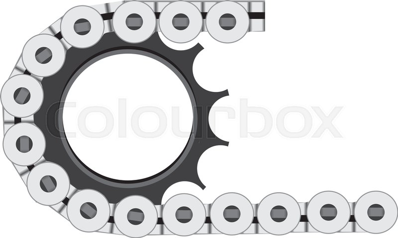 800x479 The Design Of A Bicycle Chain Mounted On A Bicycle Sprocket