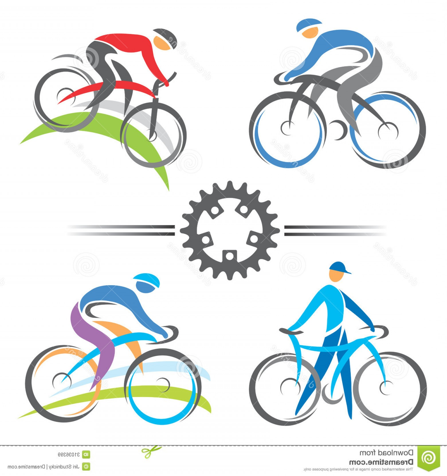 1560x1664 Royalty Free Stock Images Cycling Icons Colorful Mountain Biking